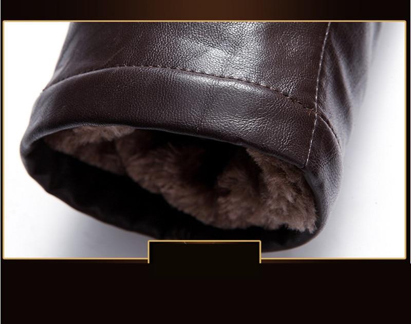 US $146.75 55% di SCONTO|AYUNSUE Giacca Invernale da Uomo In Lana D'agnello Ecopelle Uomini Giacca Spessa Collo di Pelliccia di Procione Jaqueta Couro
