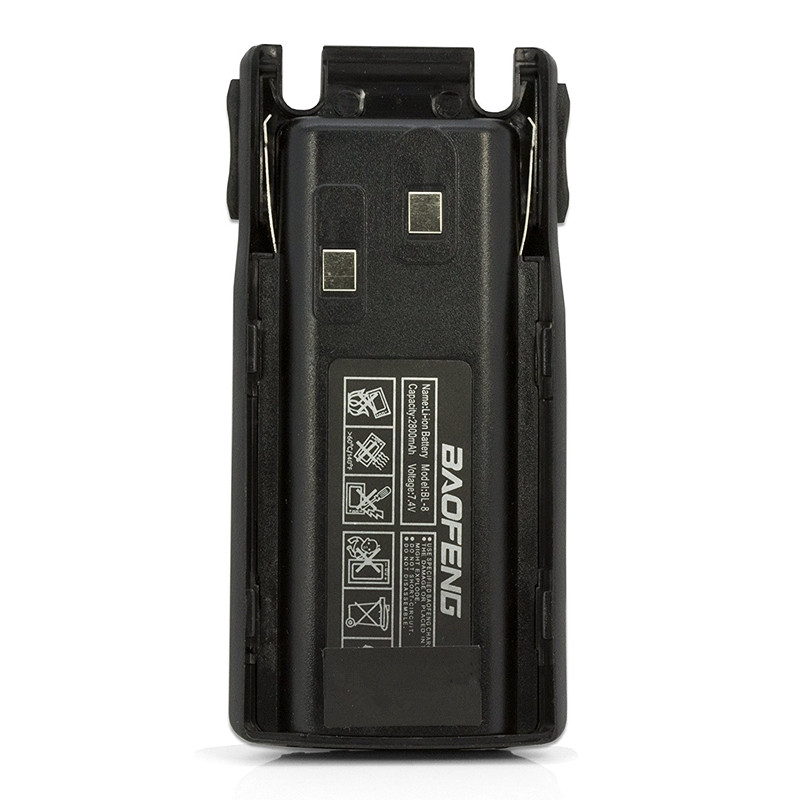 2PCS BAOFENG BL-8 2800mAh 7.4 V Li-Ion Battery for UV-82 UV-82X UV-82C Radio