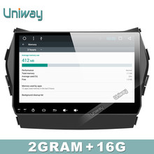 AIX459060 uniway IPS screen android car dvd for hyundai santa fe/ IX45 2010 2011  2013 2016 car radio multimedia gps player