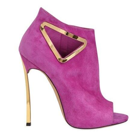 Newest 2016 Hot Selling Suede Leather Peep Toe Triangle Ankle Boots Cut-out Metal Heel Gladiator Sandals Boots For Women hot selling tassels cut out women shoes thin high heel lace up peep toe sandals suede leather graceful party footwear