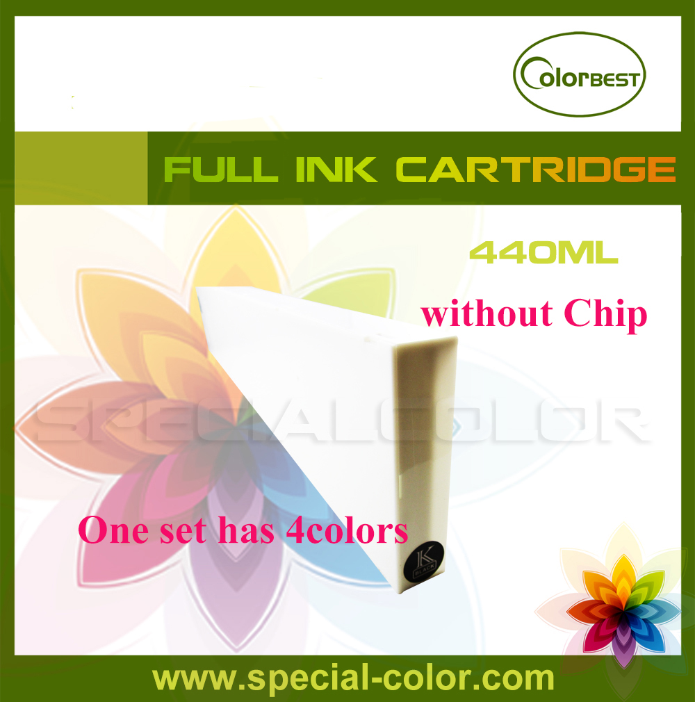 Eco solvent ink cartridge without chip 440ml 4 colors for Roland/Mimaki/Mutoh Printer 2piece lot mimaki jv33 jv22 jv5 ts5 ts3 mutoh roland ink pump solvent inkjet printer machine ink pump spare part