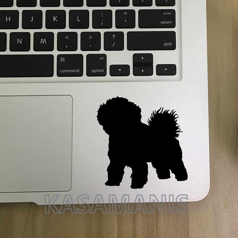 Виниловые наклейки для собак на заказ, милые наклейки Bichon Frise Silhouette, художественный декор, персонализированные наклейки с именем собаки для украшения ноутбука