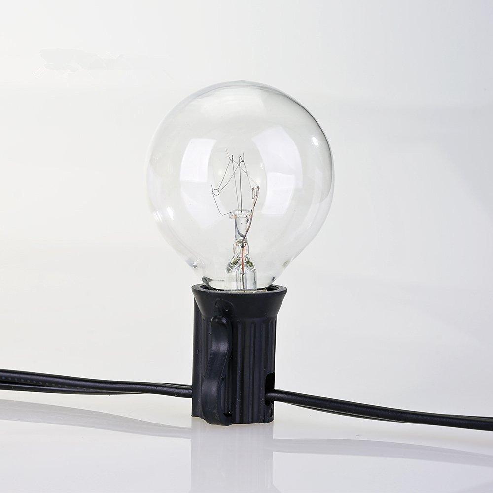 Drita e Krishtëlindjes së Stilit Evropian G40 me kabllo të zezë - Ndriçimi i pushimeve - Foto 4