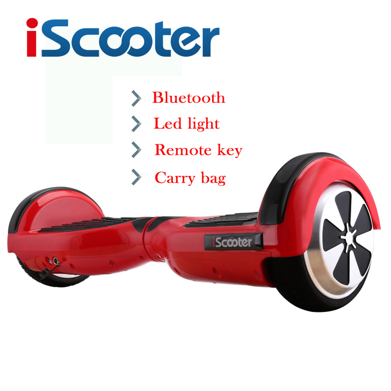 iScooter New 6.5inch Hoverboard Electric Skateboard Hover Board gyroscope Electric Scooter standing Scooter RU Store no tax to eu ru four wheel electric skateboard dual motor 1650w 11000mah electric longboard hoverboard scooter oxboard