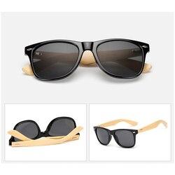 HARKO,Bamboo Sunglasses Men Retro Wood Sunglass Women Design Sport Goggles Gold Mirror Sun Glasses Shades
