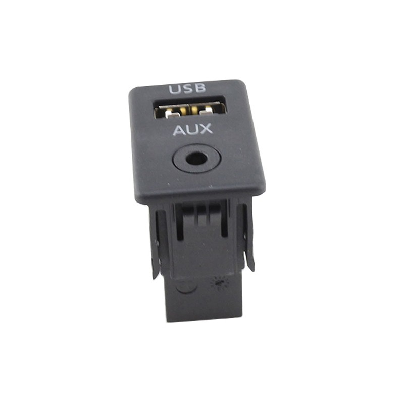 Car 2in1 USB+AUX Input Switch Button For Volkswagen Passat