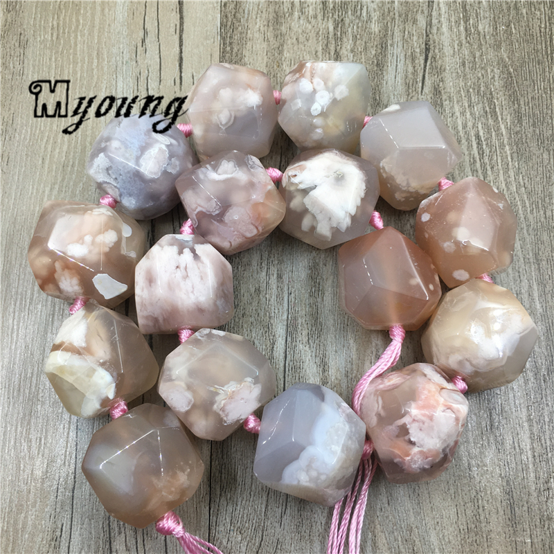 Image 2 - Large Faceted Cherry Agates Stone Nugget Beads,Natural Gems Stone Pendant Beads For DIY Jewelry MY1960Beads