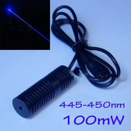 100mW 445-450nm BLUE laser module Dot  beam shape, Size 20x60mm DC5.5-6.5V  цена и фото