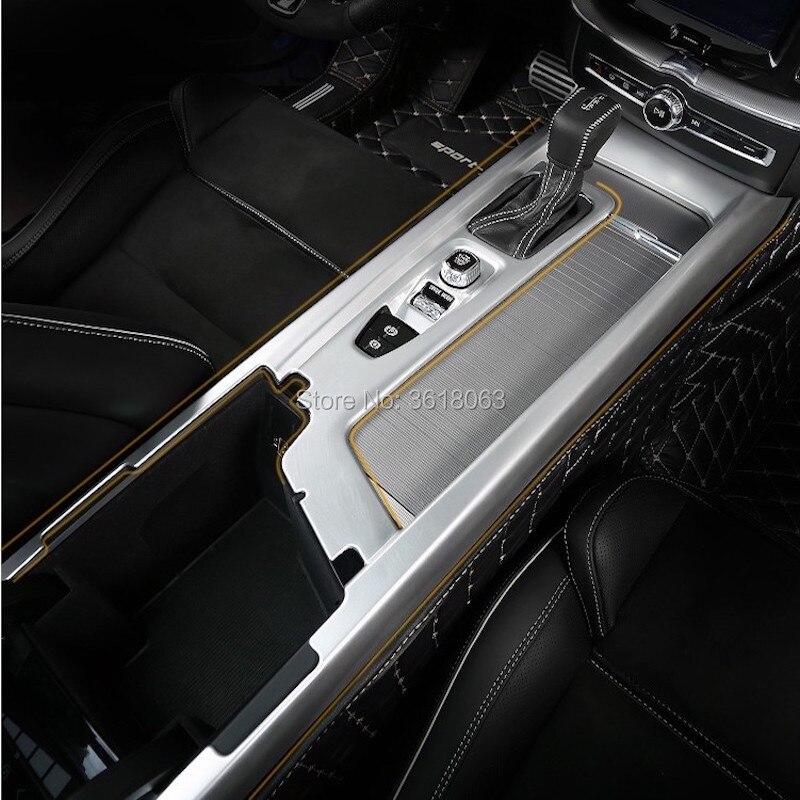 Per Volvo XC60 2018 2019 Complessivo Telaio Scatola Del Cambio copertura della Tazza di Acqua Rifiniture ABS Chrome Decorazione Adesivi Car Styling accessorio - 5