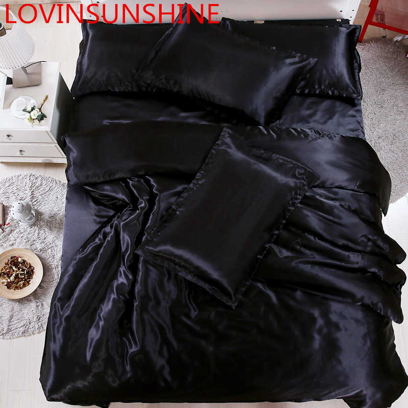 LOVINSUNSHINE Luxury Bed Linen Set Comforter Bedding Sets King Size Silk Quilt Cover Set Silk AS02#