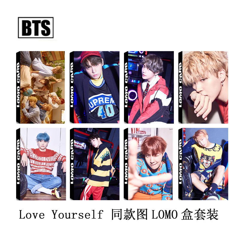 Kpop BTS Bullet-proof Cadet Love yourself single LOMO small Card set with the same picture k-pop Bangtan Boys 30 pcs greeting