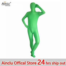 d2f39519a7 Ainclu 24 hours ship out New Halloween Green Full Body Spandex Zentai Suits  Rush order Same day shipping 24-hour ship