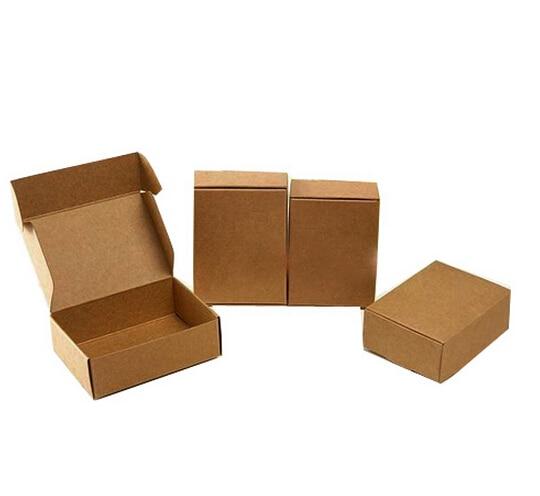 300 Pcs Lot 6 5 4cm Small Kraft Paper Box Brown Kraft Gift