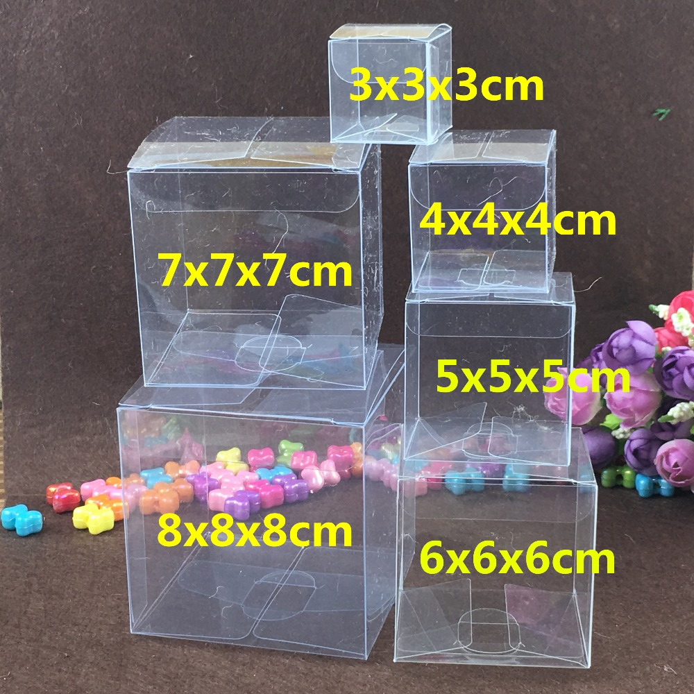 50pcs/lot Clear PVC  Favor Boxes Paper Chocolate Boxes Party Gifts Packaging Box