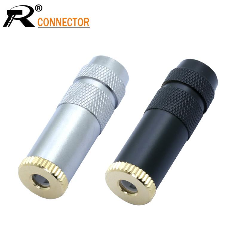 1pc Silver/Black Case 4.4mm 5Pole Headphone Plug Jack Audio Adapter For Sony Female Converter 4.4mm Jack Full Balanced Connector