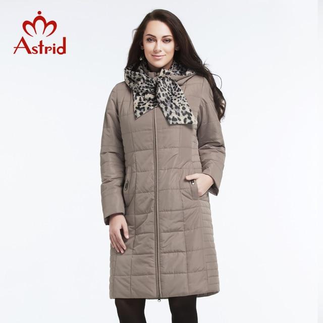 Астрид 2018 высокое качество Повседневное Модная парка Новая модная зимняя женская хлопковая куртка теплая леопардовая куртка с капюшоном AM-2606