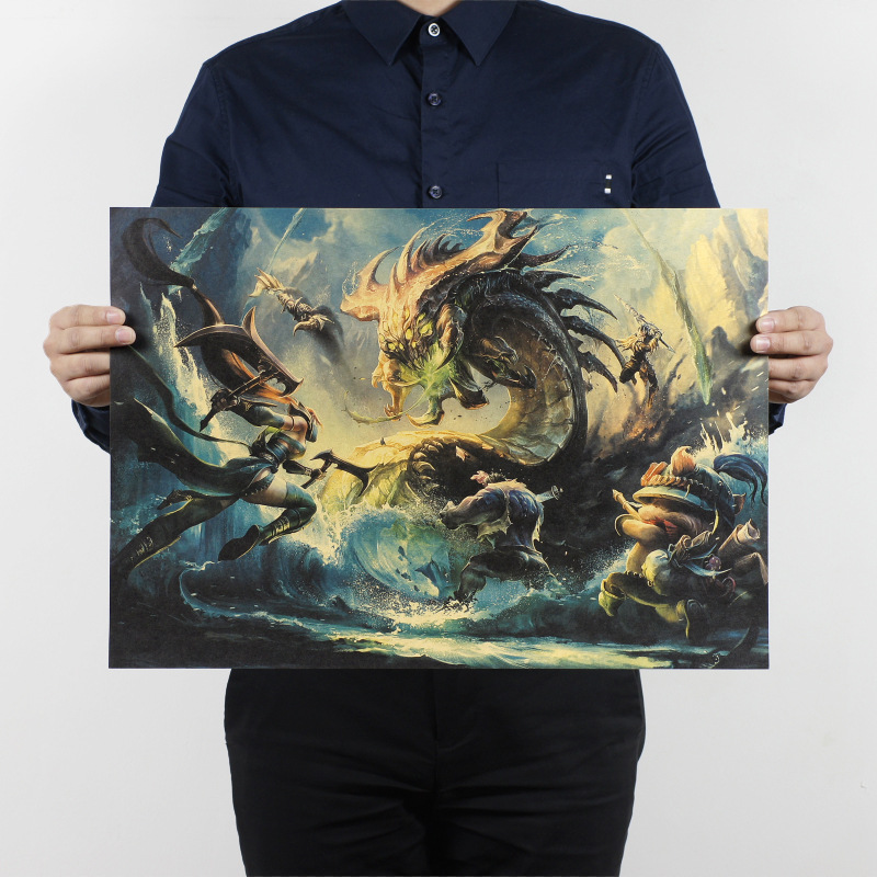League of Legends B/Electronic Athletic game/kraft paper/Cafe/bar poster/Retro Poster/decorative painting 51x35.5cmFree shipping