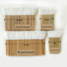 Thickened Soft Wool Hair Brushes Paint Joint Brush for Painting Whitewashing Bamboo Handle Oil and Watercolor Brush Paint Tools cheap Pastille 3 years old Wood other single package Oil Brush Watercolor Brush Paint Brush 10 12 24 30joint brush