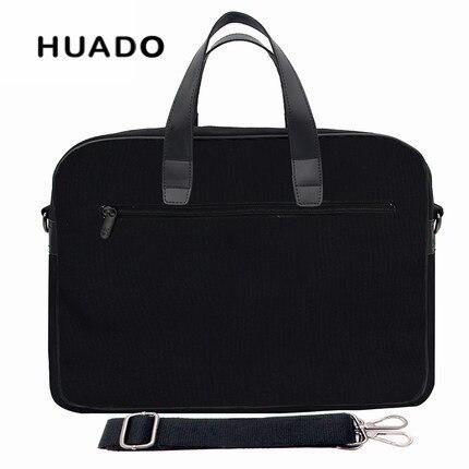 Black Business Laptop handbag 15.6 15inch men notebook Briefcases 13 17 18canvas laptop bags for alienware 17 18/asus/lenovo