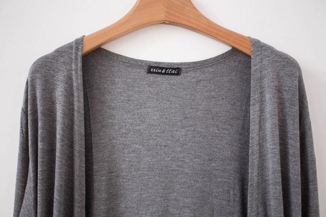 New Fashion Women brand Cardigan Sweater Poncho Lady Long sleeve Casual Slim 100% Cotton Solid female Knitwear Coat Kimono D150 5