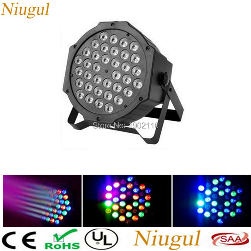 Stage Projector 36 LEDs RGB Color Mixing Par Light LED Lamp Voice Activated Light Stage Party Projector Led Flat Holiday Lights mipow btl300 creative led light bluetooth aromatherapy flameless candle voice control lamp holiday party decoration gift