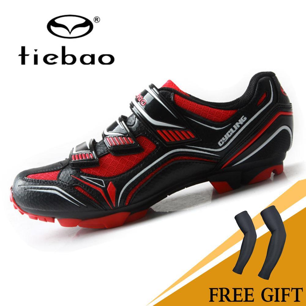 TIEBAO Tige En Mesh Respirant Hommes Chaussures De Vélo Vtt SPD Chaussures Skidproof Sapatilha Ciclismo Vtt Chaussures de Vélo De Triathlon