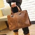 Горячая распродажа! Новинка мужская старинный кожаный бизнес сумки-мужчин сумки для ноутбуков мужские дорожные сумки кожаный портфель