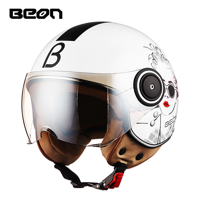 BEON B-110 Vintage Off Road Motorbike Retro Open Face Half Helmet Motorcycle Summer casco capacete motociclistas Men & Women ECE free shipping beon new fashion motorcycle half face summer moto helmet breathe four seasons authentic harley motorbike capacete