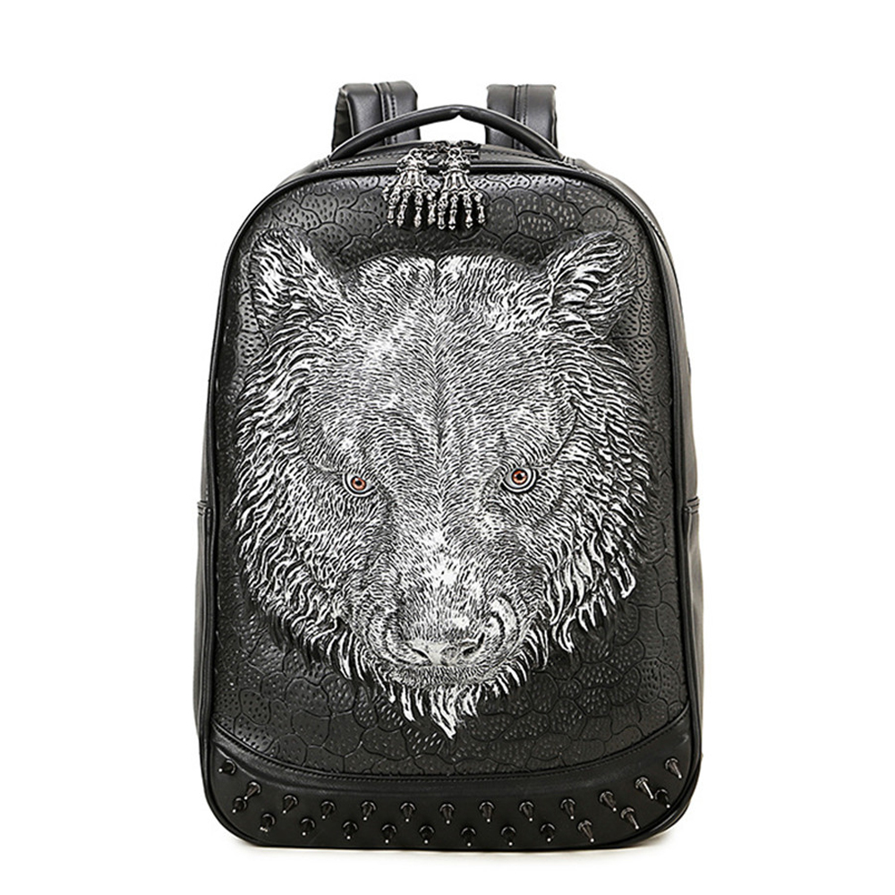 EBACAD Tigers Head Large Capacity Travel Backpack Academy 3D Backpack Big Cat Knapsack Travel Animal Beast Rucksack цена и фото