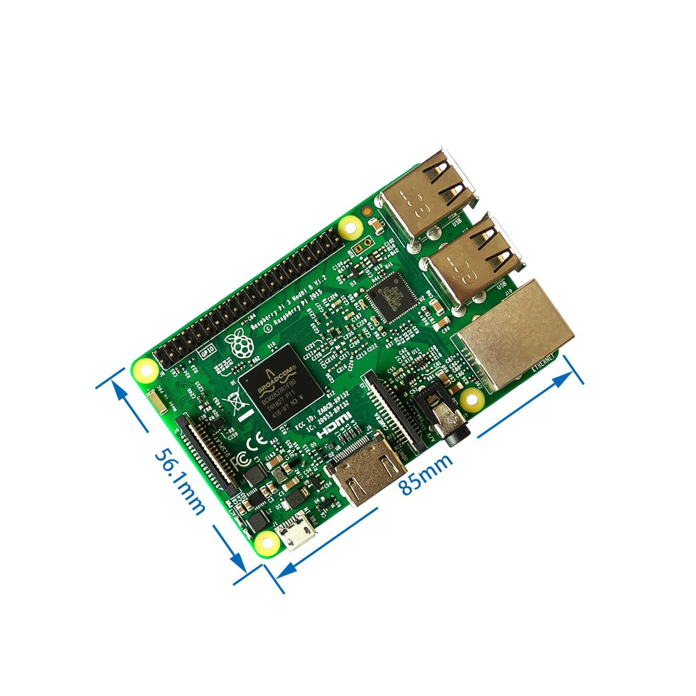 2018 New original Raspberry Pi 3 Model B Board 1GB LPDDR2 BCM2837 Quad-Core Ras PI3 B,PI 3B,PI 3 B with WiFi&Bluetooth2018 New original Raspberry Pi 3 Model B Board 1GB LPDDR2 BCM2837 Quad-Core Ras PI3 B,PI 3B,PI 3 B with WiFi&Bluetooth