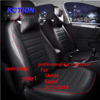 11 Colors Tailor Made Car Seat Cover For Skoda Rapid 2013 2016 Composite Pu Car Styling