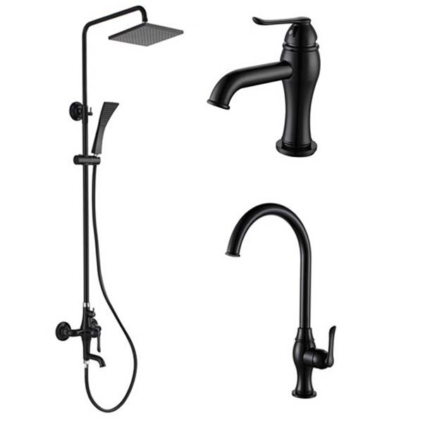 black shower head and faucet. Rainfall Water Function BLACK Bath Shower Head Thermostatic  Bathroom Faucet Sets 3PCS Hot And Cold Tap In Bathtub Faucets From Home