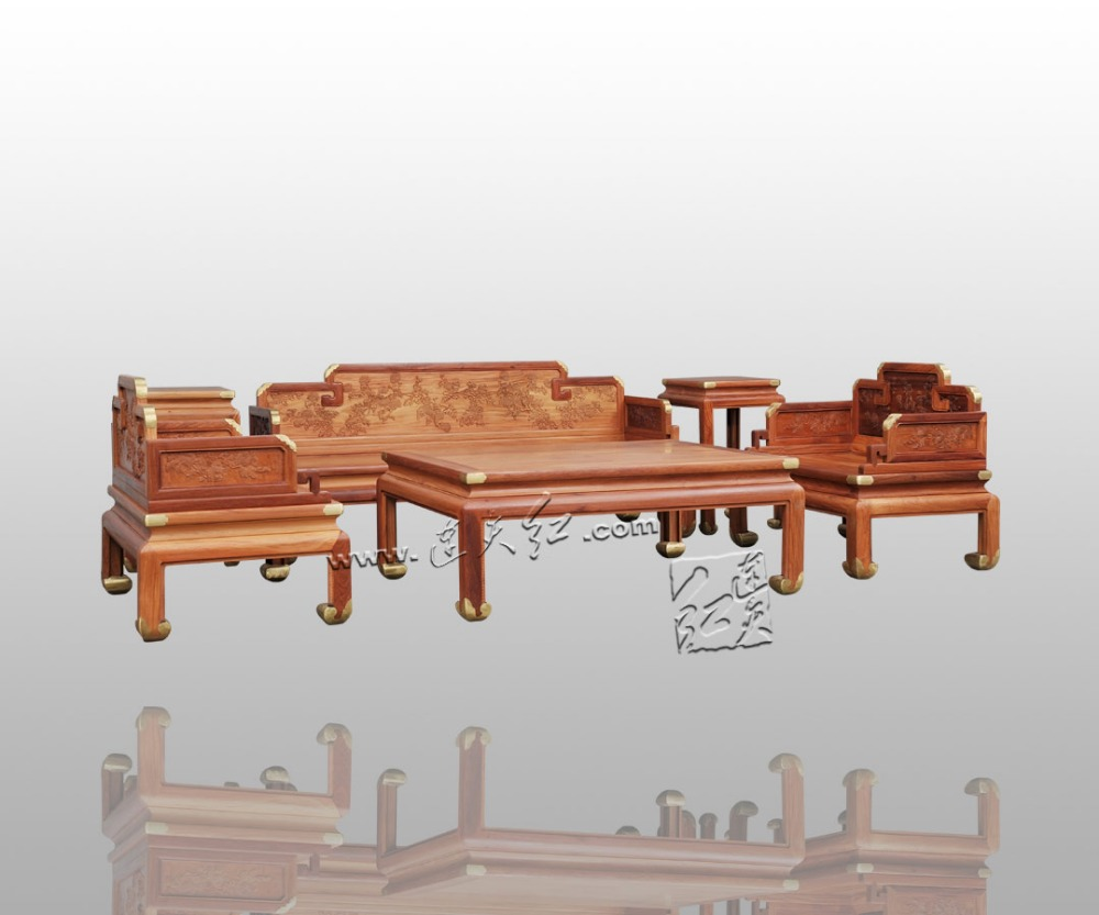 Burma Rosewood 3+1 Seat/Lot Living Drawing Room Sofa Set with Tea Table & Flower Stand Sold Wood Hotel Costly Furniture Luxuries stools with chi design living room low console table burma rosewood chinese classical antique furniture solid wood square bench