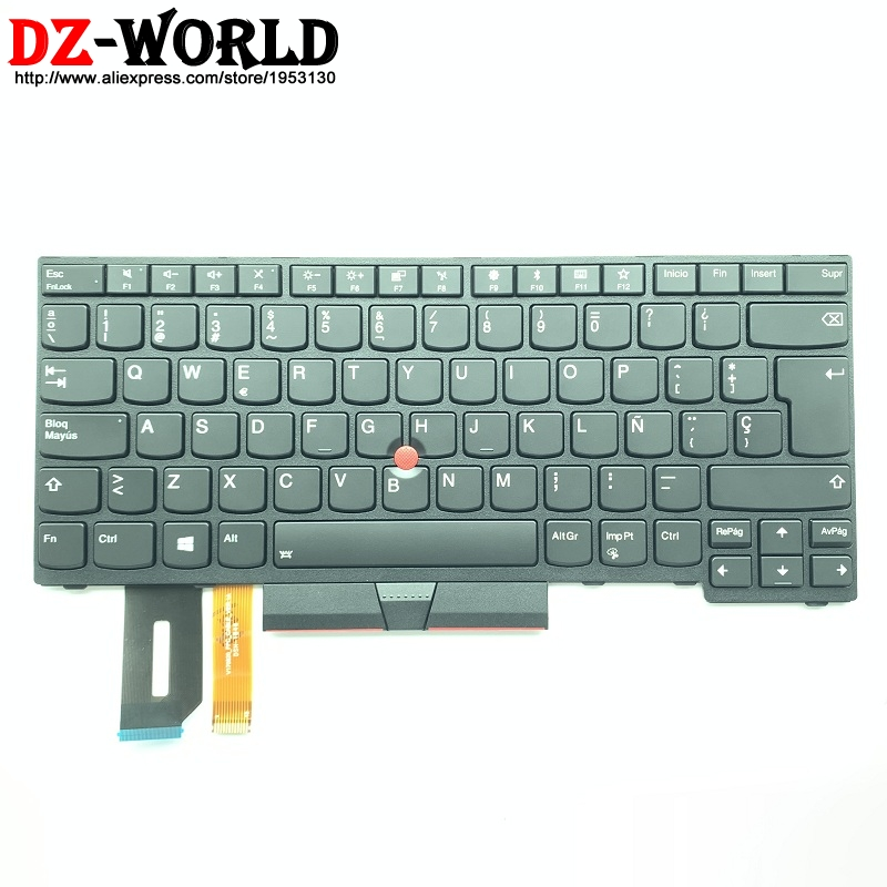 LAS ES Spanish Backlit Keyboard For Lenovo Thinkpad E480 E490 T480S L480 L380 Yoga T490 E490 T495 L390 Yoga L490 P43s   01YP530