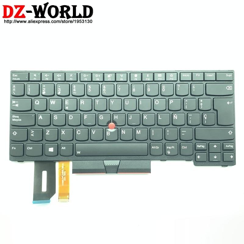 New Original ES Spanish Backlit Keyboard for Lenovo Thinkpad E480 E490 T480S L480 T490 T495 L390 L380 Yoga L490 P43s Laptop