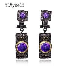 Цена Завода Благородный новые модные фиолетовый цвет Цирконий