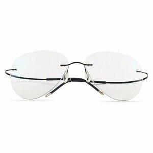 Image 4 - 2019 NEUE Sommer Übergang Sonnenbrille Titan Photochrome Gläser Rahmen männer und frauen Chameleon Brillen