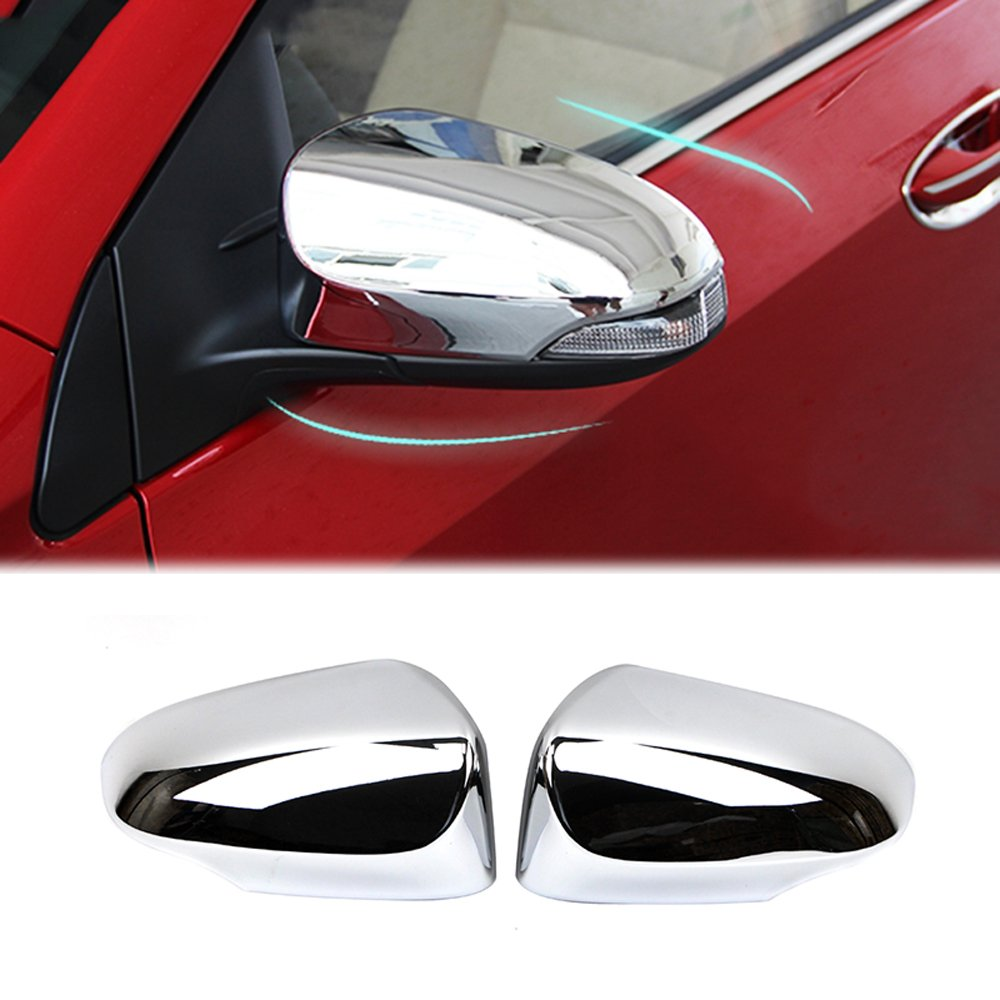 2pcs Plating Side Mirror Wing Mirror Pillar Cover Trim For Honda Fit 2015-2017