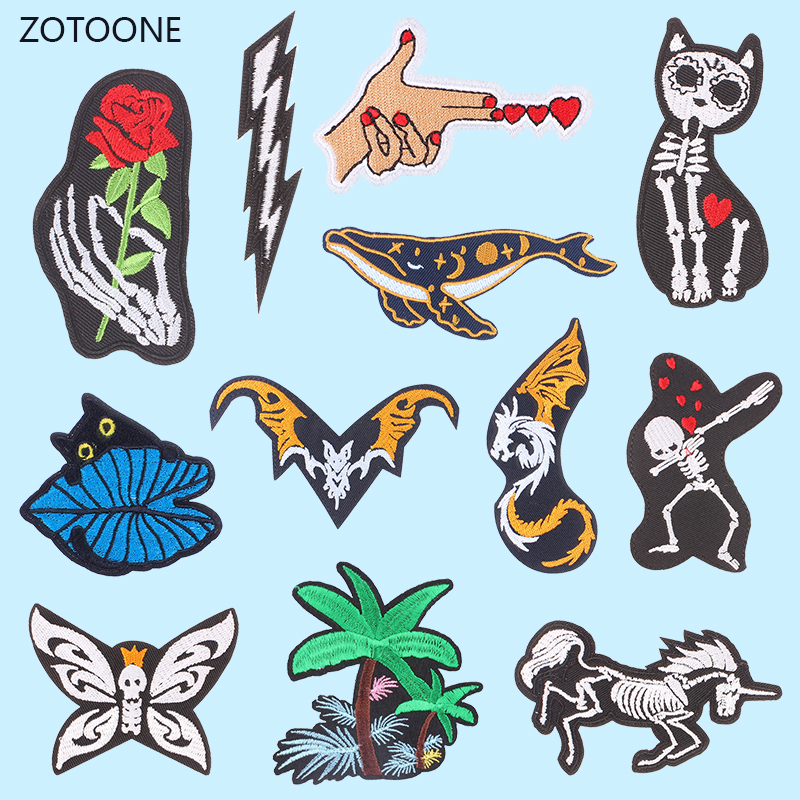 ZOTOONE Dog Patch For Clothing Iron On Embroidered Sewing Applique Woman Patches Sew On Fabric Badge DIY Apparel Accessories G