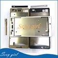 Черный/Белый/Золото Оригинальный Новый Передняя Ближний ЖК Рамка корпус + Клей Для Sony Xperia M5 E5603 E5606 E5653 Замена