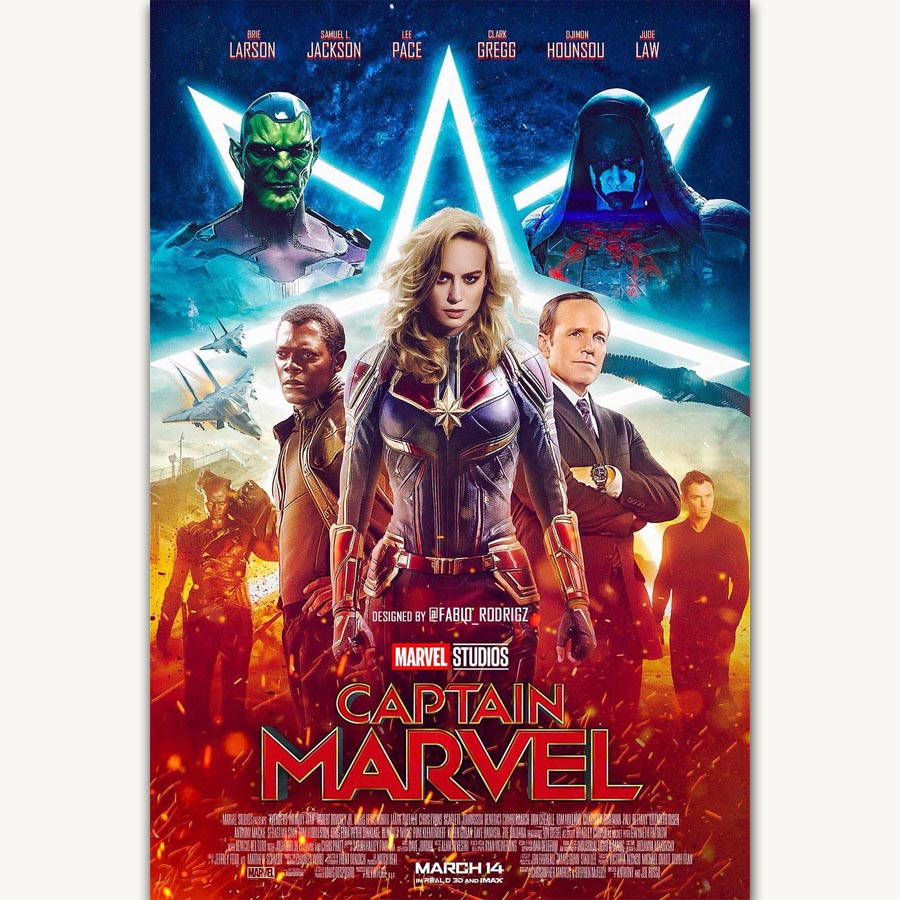 Captain Marvel 2019 Movie Art Silk Poster 12x18 24x36