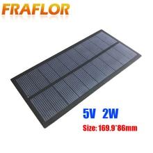 Mini GÜNEŞ PANELI yeni 5V 2W güneş hücreleri fotovoltaik paneller modülü güneş enerjisi pil şarj cihazı DIY polikristal silikon