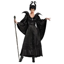 Для взрослых женщин Хэллоуин ведьма косплей сказка Спящая красавица заклятие колдовство представление нарядное платье со шляпой Косплей Костюм