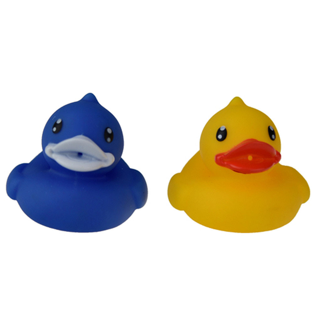 YIQU Colorful 6pcs Cute Duck Rubber Animals Baby Shower Party Favors Toys Baby Bathing Float Toys For Children Baby Gift