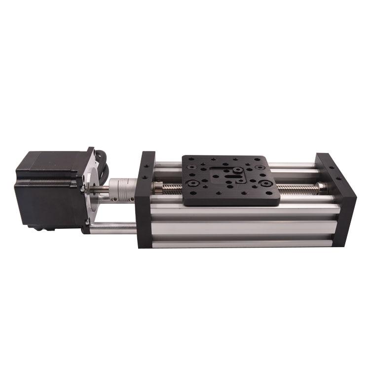 3d printer Z axis CNC sliding table lead screw effective travel 158.85mm T8 screw nema23 stepper motor linear actuator bundle nema23 linear stepper w 310mm tr10 4 lead screw for 3d printer desktop straight screw motor