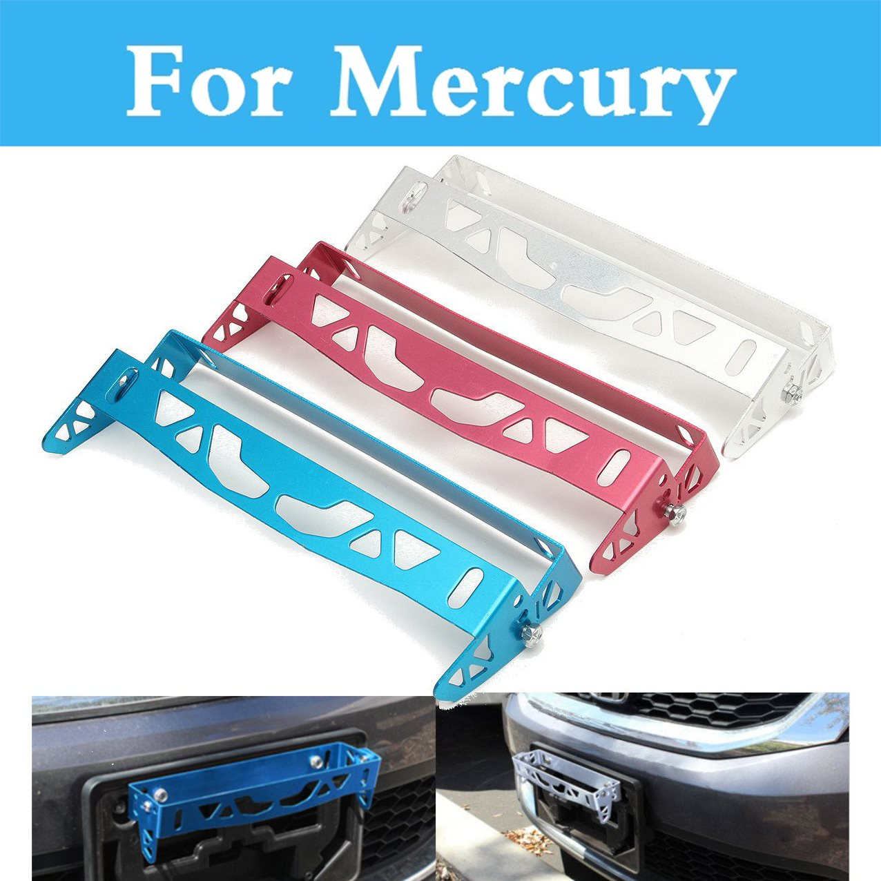 Aluminum Car Styling License Frame Power Racing License Plate Frames Tag Holder For Mercury Marquis Mariner Milan Montego Grand