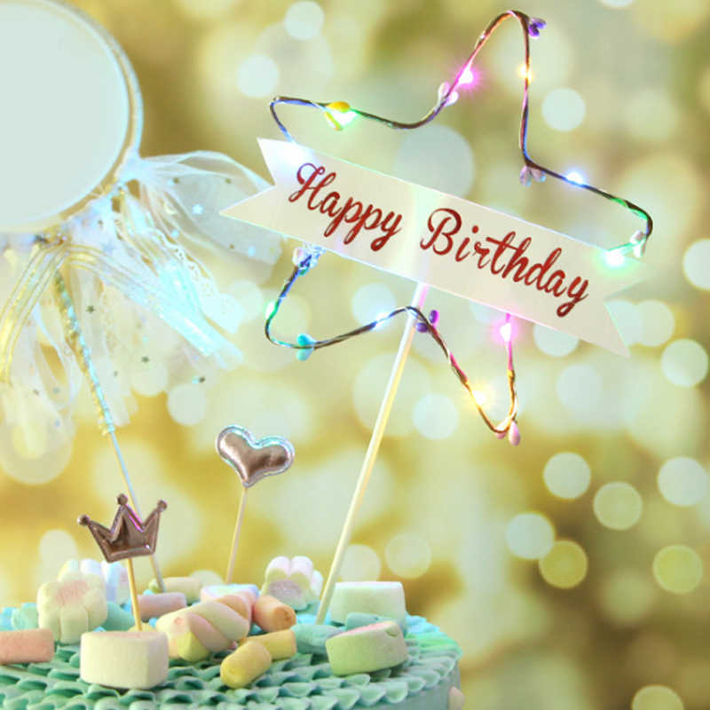 Swell 1Pcs Party Items Creative Cake Inserts Happy Birthday Beautiful Birthday Cards Printable Nowaargucafe Filternl