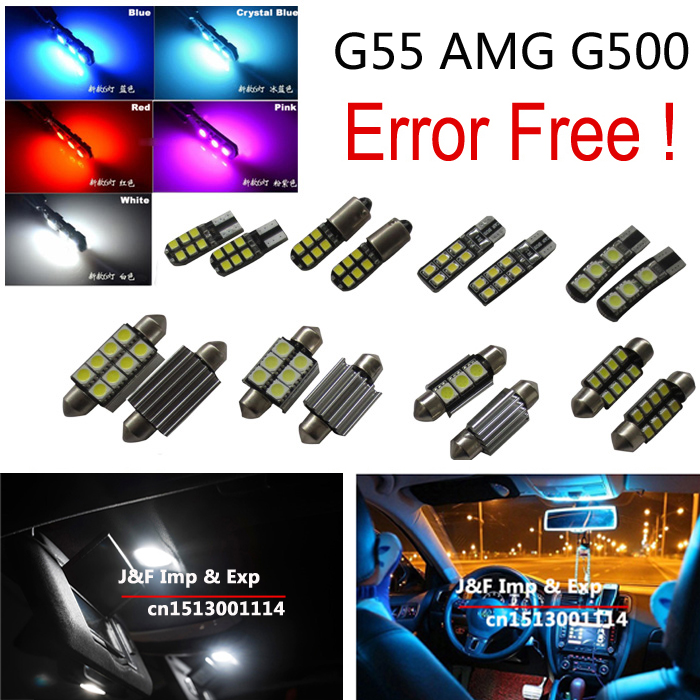9 pcs canbus error free LED bulb Interior dome map Light Kit Package for G-class <font><b>G55</b></font> <font><b>AMG</b></font> G500 image