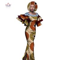 Bodycon Plus Size African Dresses For Women Cotton Dresses Custom Clothing Africa Wax Dashiki Novelty Dress
