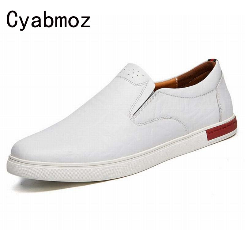 где купить genuine leather men shoes casual loafers slip on mens driving shoes flats moccasins  comfortable leisure male hot fashion по лучшей цене
